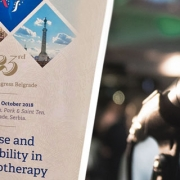 Dr. Daniel Holzinger at the Congress of the European Association for Psychotherapy