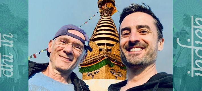 Daniel Holzinger und Milenko Vlajkov in Indien