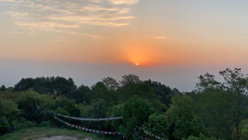 Sonnenaufgang in Kathmandu