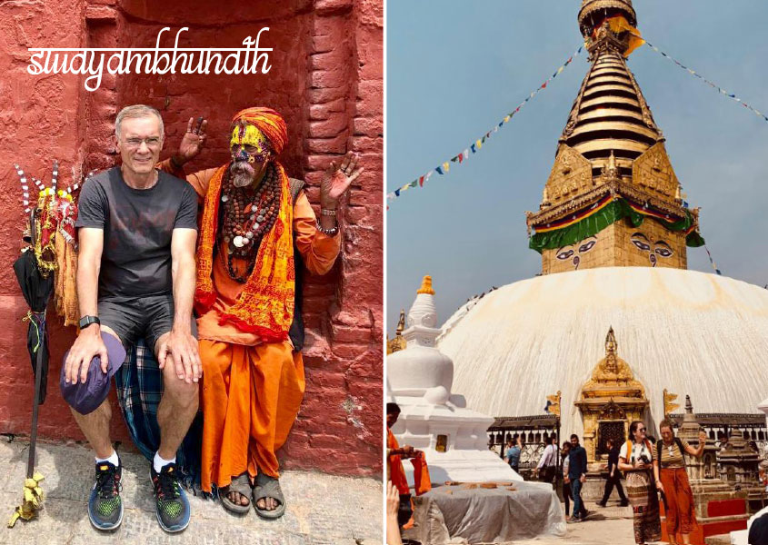 Milenko Vlajkov in Swayambhunath