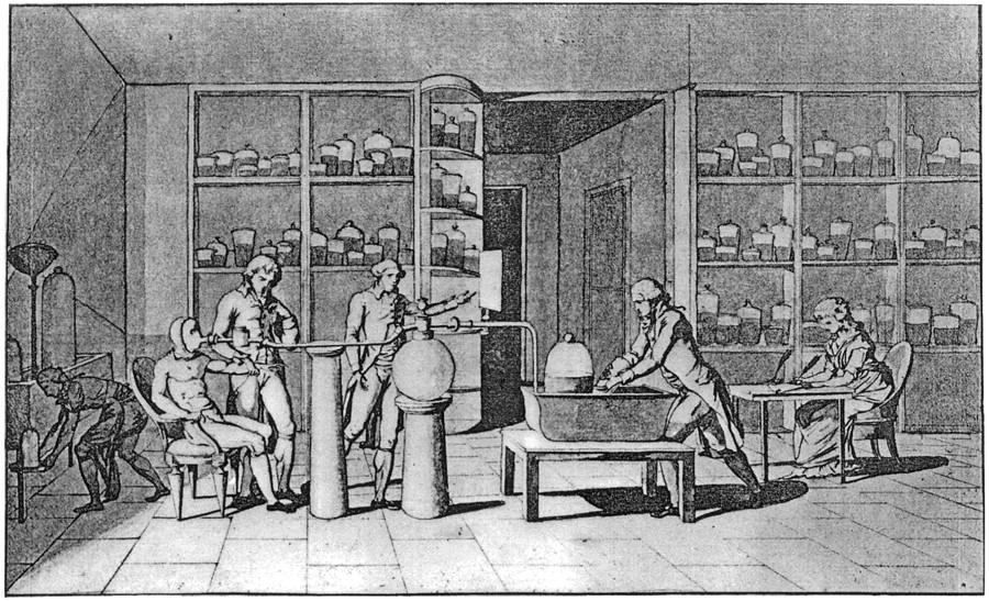 Spiroergometrie Geschichte: Der Arbeitsversuch von Lavoisier und Seguin 1789