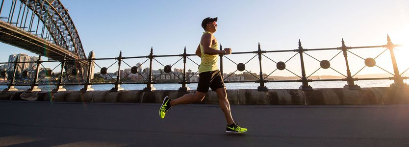 Läufer beim Training für einen Marathon